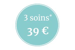 3 soins pour 39 €